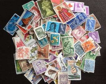 250 mixed GB and world stamps