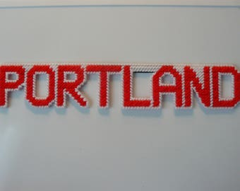Portland in Handmade, Needlepoint Magnets