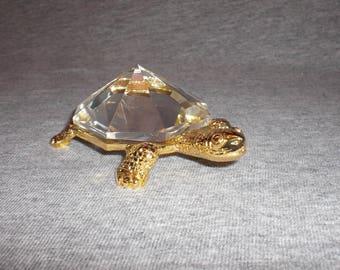 Turtle - miniature collectible crystal figurine