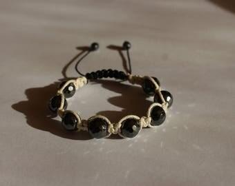 Shamballa Macrame bracelet with hematite