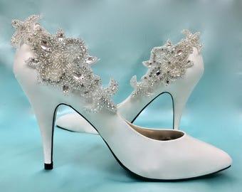 Bridal Shoe Clips Wedding Accessory Art Deco