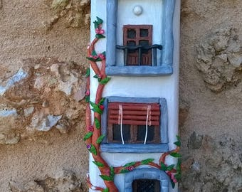 Handmade clay house.