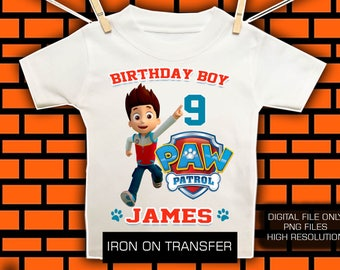 Raider / Paw Patrol Iron On Transfer / Paw Patrol Birthday Shirt DIY Transfer / Paw Patrol Transfer / Digital file/ High Resolution