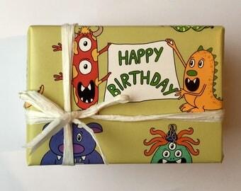 Monster Gift Wrap