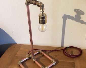 Copper pipe lamp