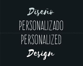 Personalized design: logo and products labels, ready to print