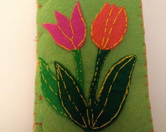 Needle Book with Tulips