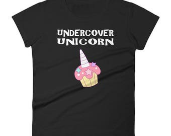 Unicorn shirt - Undercover Unicorn - unicorn - unicorn birthday - girls unicorn shirt - unicorn tshirt - unicorn party - unicorn gift tshirt