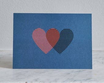 Love card- '2 Hearts' by Pressed&Folded