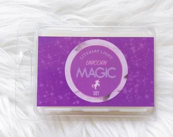 UNICORN MAGIC Wax Melt | Fantasy Inspired 3oz Scented Soy Spring Wax Melt - Birthday Gift Ideas
