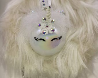 Unicorn bauble / Unicorn Ornament