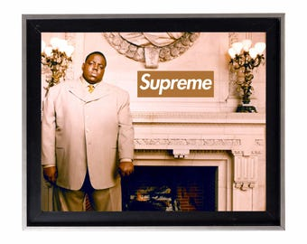 Supreme x Biggie Smalls 'All That Glitters is Not Gold' Poster or Art Print