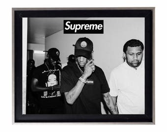 Supreme x Travis Scott 'Places & Faces' Poster or Art Print
