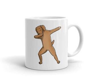 Cute Dabbing Vizsla Dog Mug Funny Dab Dance Gift