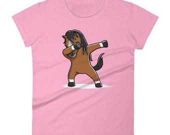 Funny Dabbing Horse Shirt, Cute Dab Dance Pet Gift, Horse Women's T-Shirt