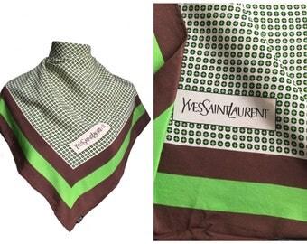 90's authentic vintage yves saint laurent silk scarf/ ysl scarf/ vintage silk scarves