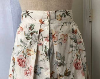 Westminster Lace Floral Maxi Skirt with Buttons