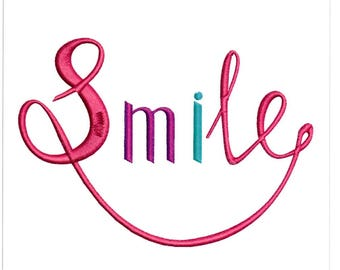 Embroidery Designs Smile