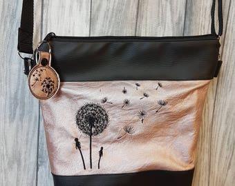 Dandelions handbag pink metallic