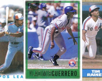 MONTREAL EXPOS Baseball Team Lot - 200 Assorted Cards
