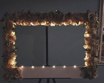 vintage / rustic selfie frame (light up!!)