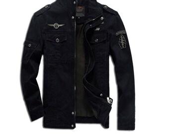 Denim Jacket Men.Cotton Jean Jacket