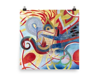 Red and Blue Ribbons - Beautiful Archival Cotton Rag Fine Art Giclée Print Supporting the Nonprofit Fresh Artists