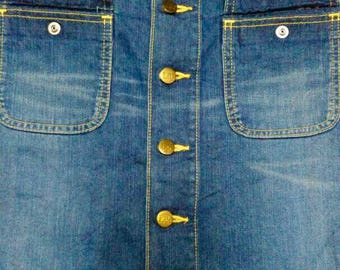 Vintage Blue Buttons Skirts by Lee Jeans size (S)31 U.S.A