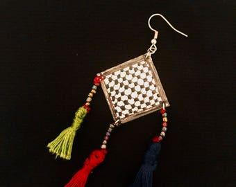 Kuffieh Palestinian handmade earrings