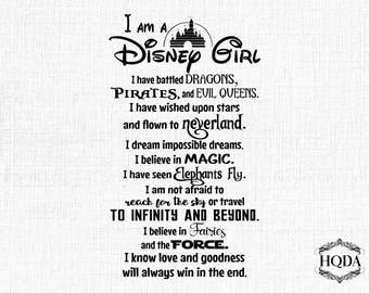 I am a disney girl svg design | cut file | vector | printable | instant download