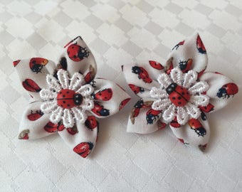 Fabric Flower Hair Accessories by Possumcrazy
