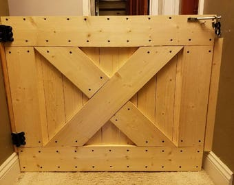Rustic solid wood baby-doggie gate