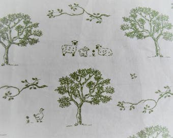 """Remnant Vintage fabric repro. Cotton Two pieces 47"""" x 8.5"""" and 29"""" x 21"""" """" Harmony art organic cotton Super soft  High thread count fabric"""
