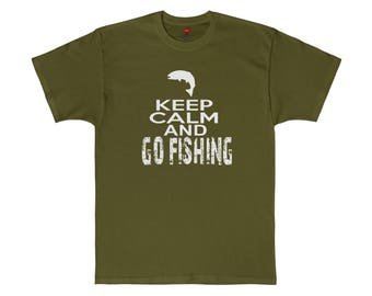 Keep Calm and go fishingTagless Tee Haines up 5XL Mens Tshirt Womens Day gift Birthday gifts for dad husband daddy grandpa farm hog life