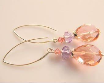 Earrings Soft Pink Tear