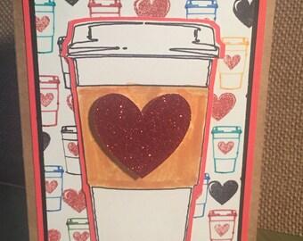 Thanks A Latte Handmade Card