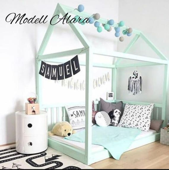 montessori bett babybett hausbett kinderbett spielbett modell. Black Bedroom Furniture Sets. Home Design Ideas
