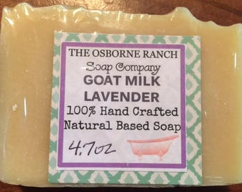 GOAT MILK LAVERNDER Hand Crafted Soap