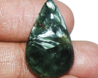 Super Quality Natural Seraphinite Gemstone - Seraphinite Cabochon - Seraphinite jewelry - Seraphinite Stone - 10.65 Cts 24x15x4 MM TZ-1759