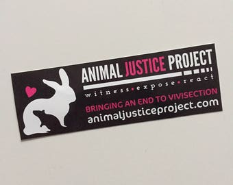 Animal Justice Project - Vinyl Sticker
