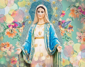 Our Lady of Grace 5x4 Flat Notecard