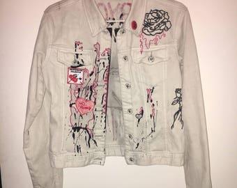 Customized denim jacket / BABYGIRL.