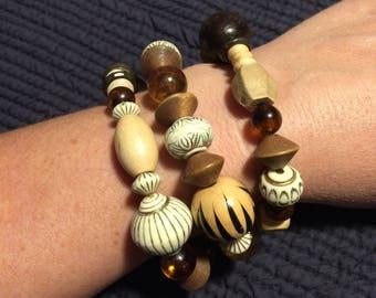Chunky Wooden Bracelet