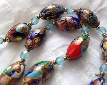 Vintage venetian glass necklace