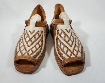 COMBINADO CORDONES en V y ROMBOS  mexican sandals men's handcrafted authentic leather huaraches mexicanos