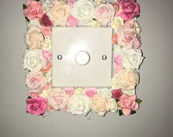 Floral light switch surround