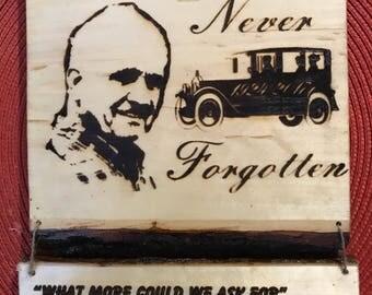 Hanging Memorial Plaque
