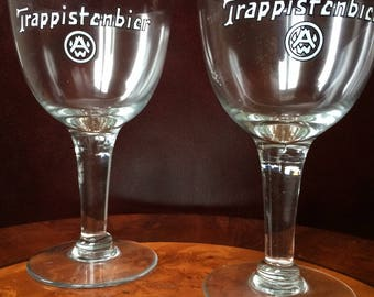 set of 2 Abdij Westmalle trappist glasses