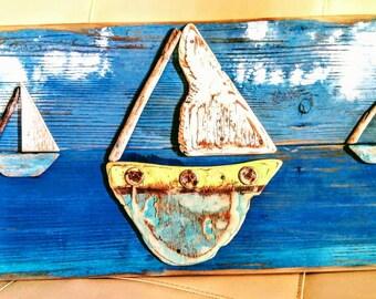 Wood art.living room.Hanging art.Recycled art.Driftwoods