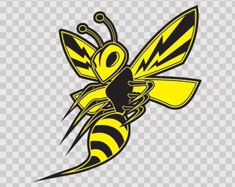 Sticker Decals Bee, Hornet, Wasp, Vespa Fighter Sports 10023